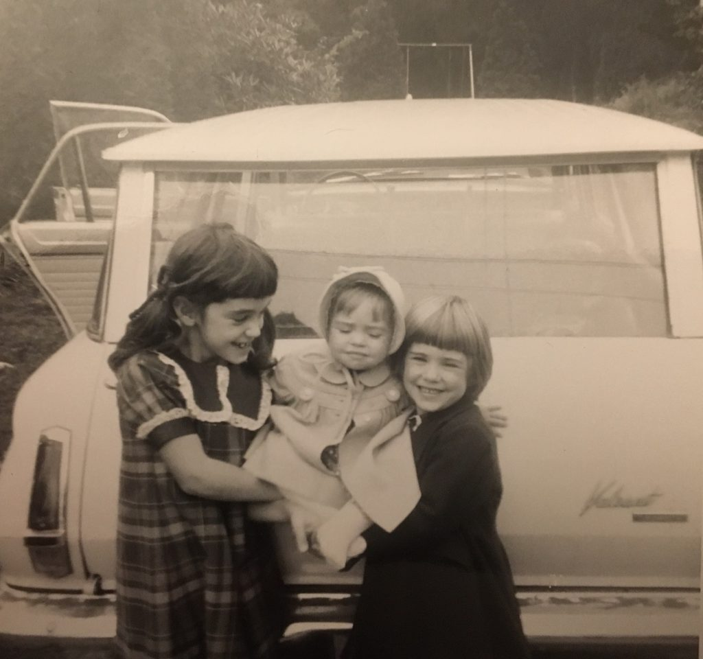 A picture of me and my two sisters.