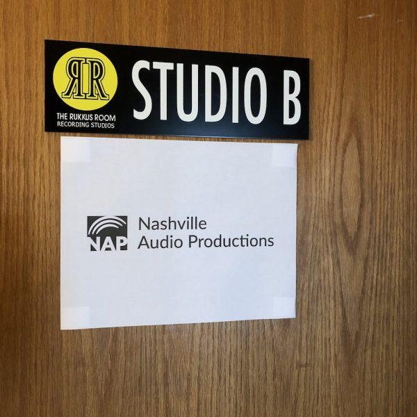 God is full of surprises, surprise number one: a recording studio in Nashville.