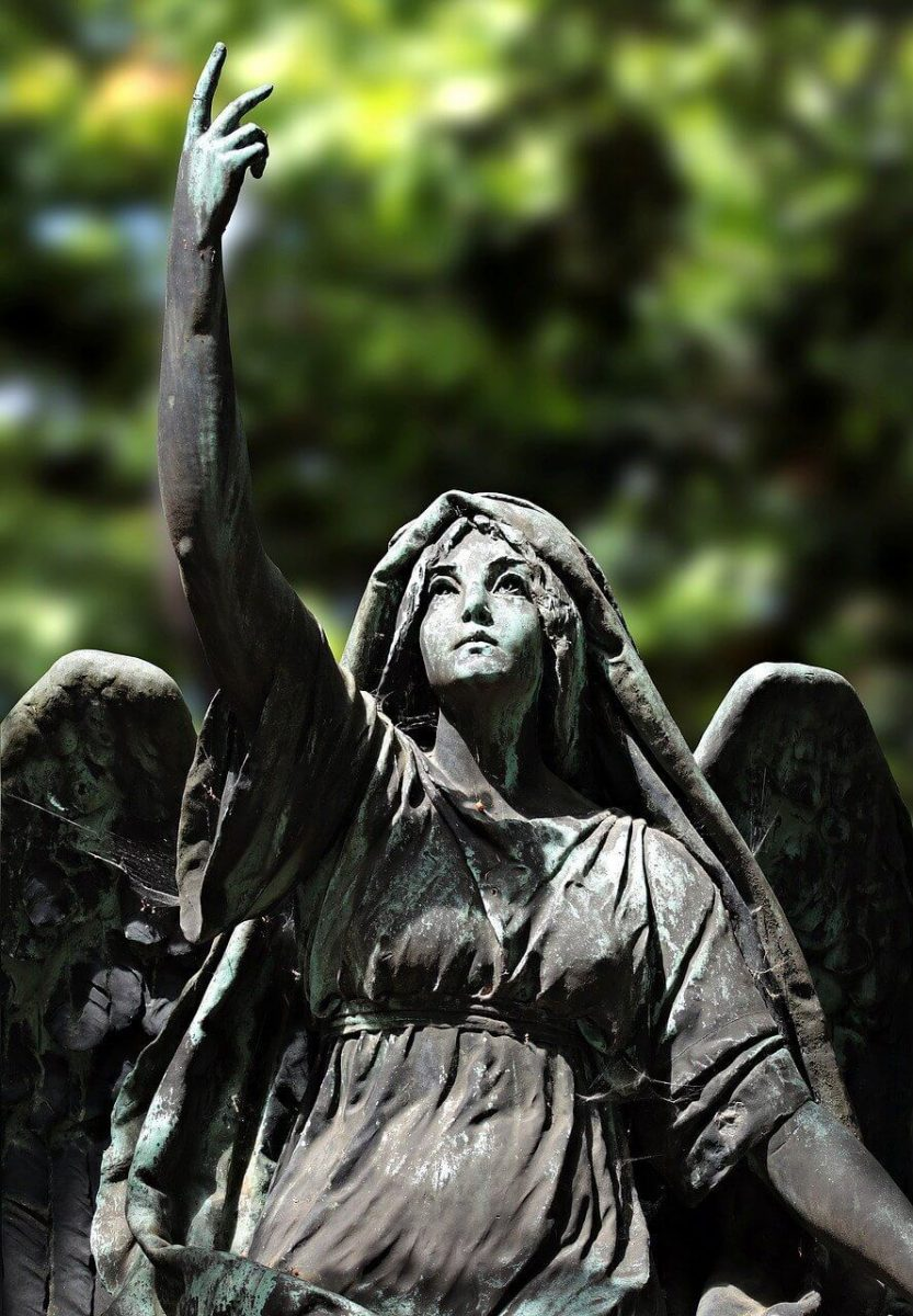 """This angel reminds me of Matthew 18:10 that says: """"For I tell you that their angels in heaven always see the face of my Father in heaven."""""""