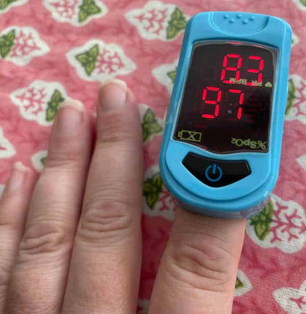 Oximeter, a must for your Covid kit.
